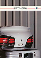 Prospekt Pontiac SSEi D 1992 car brochure Autoprospekt Auto PKWs Amerika US Car