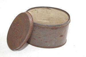 Ancienne-Boite-de-Conserve-Boite-Vide-Collection-Deco-Ovale-Boite-Tole