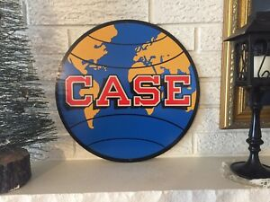 Reproduction-Case-Tractor-Farm-Equipment-GLobe-Laser-Cut-Out-Sign-14-034-Steel