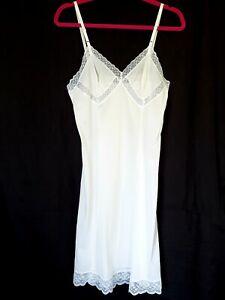 Formfit-Rogers-36-Tall-Full-Slip-White-Ivory-Lace-Semi-Sheer-Adjustable-Straps
