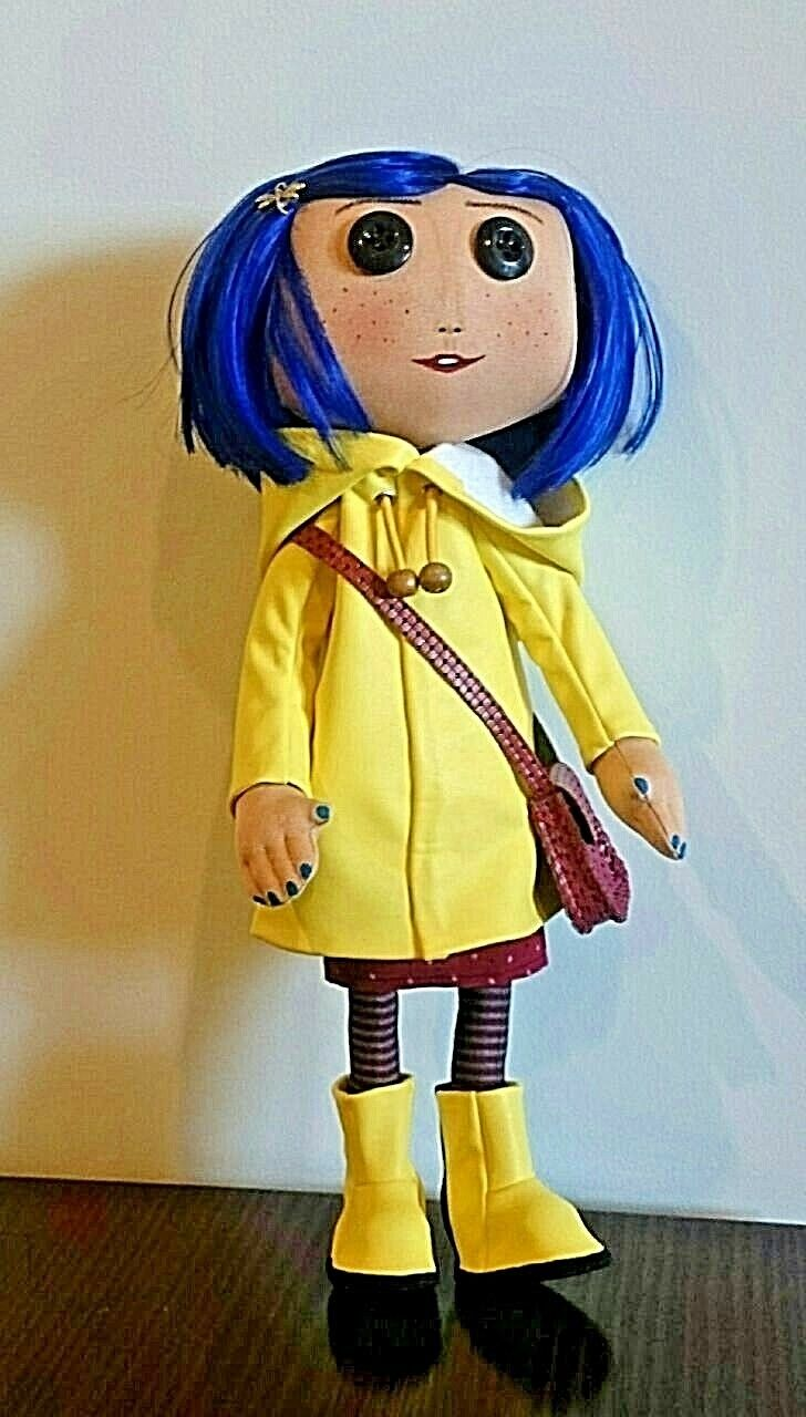 Coraline Rain Coat Bendy Fashion Action Figure Doll New Doll Girl Gift Toy Movie