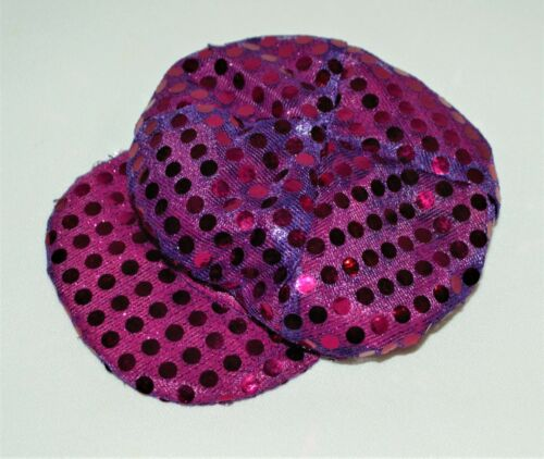 Cap Purple Sequin For 18 in American Girl Doll Hat Clothes Accessories