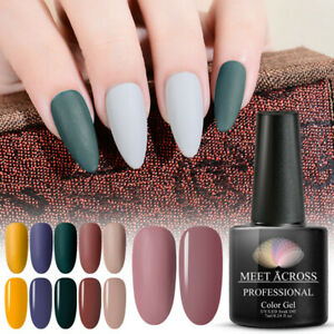 MEET-ACROSS-24Colours-7ml-Nail-Art-Soak-Off-Matte-Color-UV-Gel-Polish-Manicure