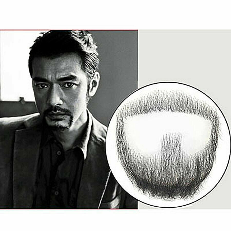 Fake Beard Men Mustache 100/% Human Hair Makeup Body Care Lots of Style dt