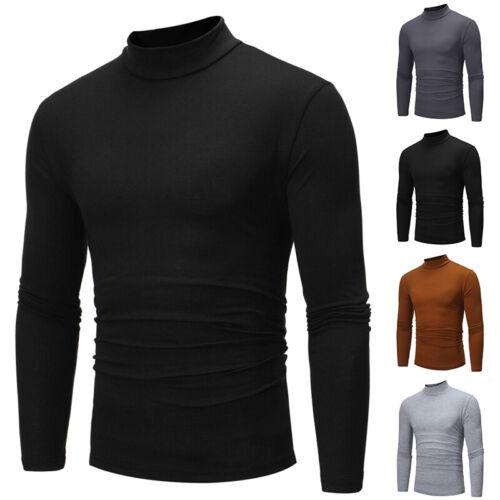 Herren Tops Rollkragen Pullover Langarmshirt Longsleeve Shirt Sweatshirt T-Shirt