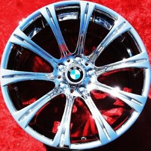Set Of 4 Chrome 19 Quot Bmw M5 M6 E60 Style 166 Oem Wheels