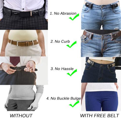Schnallenfreier Elastischer Damen Komfortabler Unsichtbarer Gürtel für Jeans