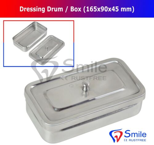 Surgical Dressing Drum 165X90X45 MM Veterinary Instruments Stainless Steel Smile