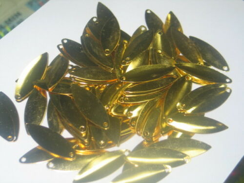 100 Gold #4 Willow Blades From Weldon Tackle Inventory