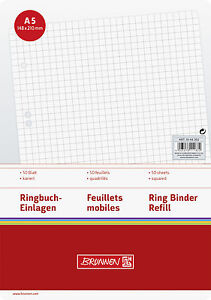 Ringbucheinlagen-DIN-A5-kariert-liniert-blanco-50-Bl