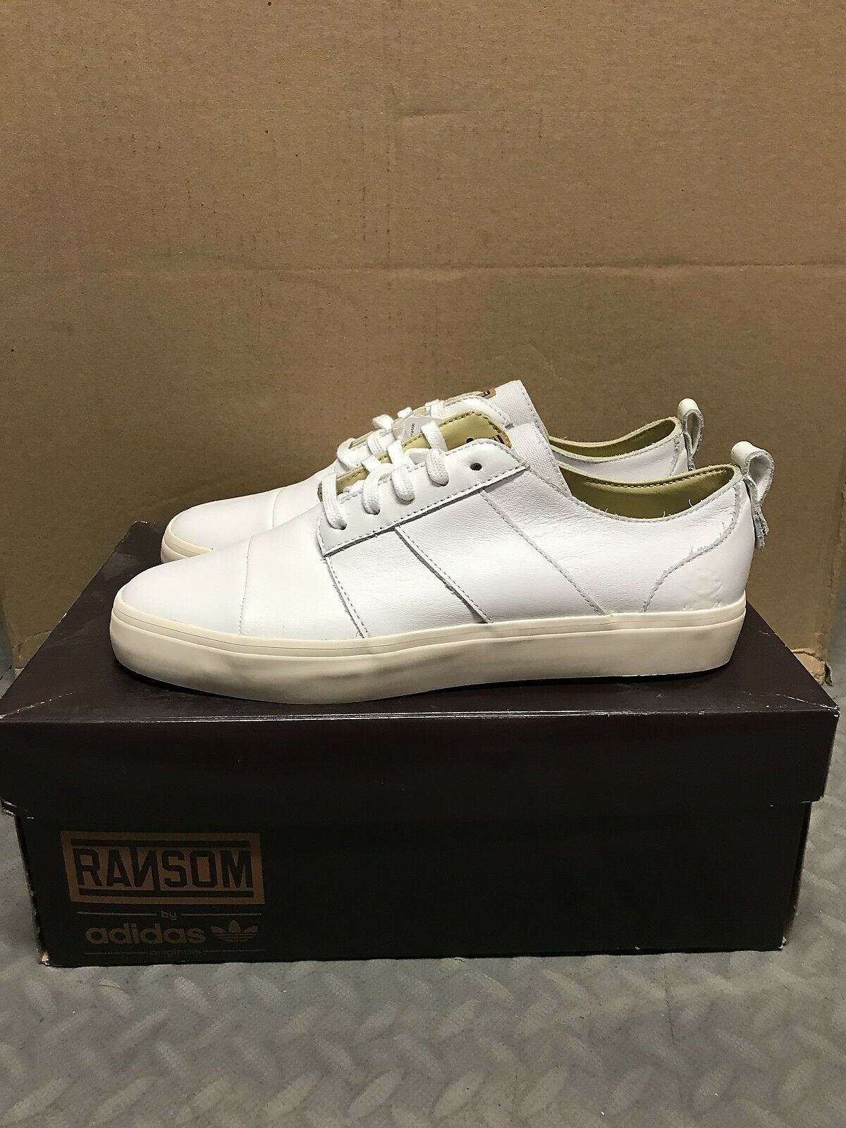 Adidas Originals X Ransom Army Tr Lo Runners Sneakers Mens New Bone White Q20898