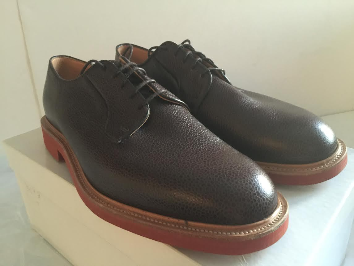 high quality finest selection best sell MARK MCNAIRY MADE IN ENGLAND WALNUT GRAIN LEATHER GIBSON DERBY ...