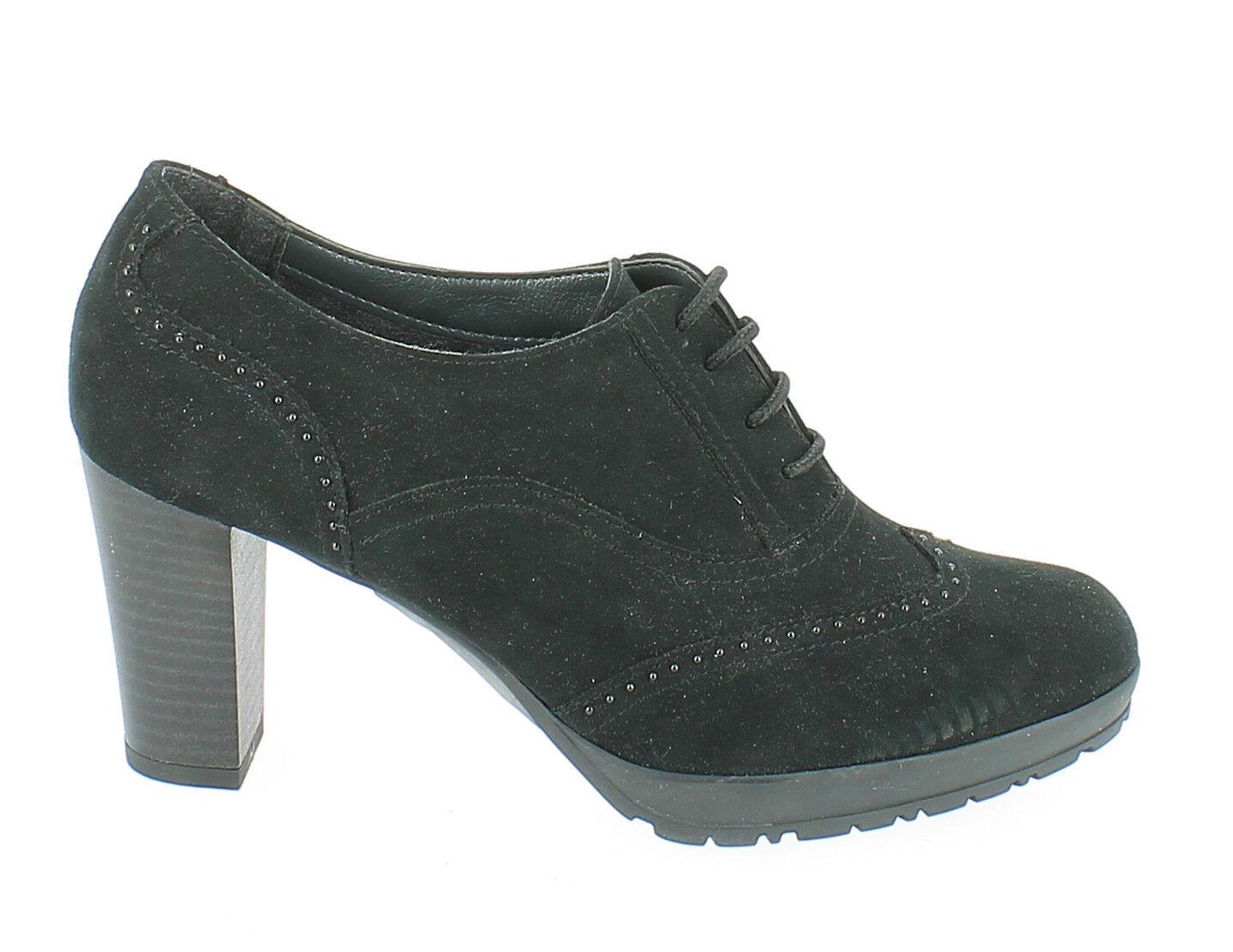 CINZIA SOFT 352337 NEGRO O/I zapatos botín bajo mujer ante zapatillas oxford