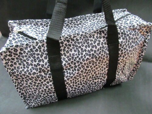 LEOPARD ANIMAL LADIES SILKY WEEKEND HOLDALL OVERNIGHT TRAVEL SHOPPING HANDBAG UK