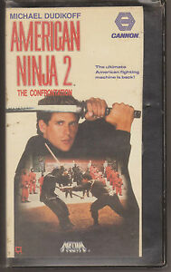 VHS-Movie-American-Ninja-2-The-Confrontation-Michael-Dudikoff-Original-English