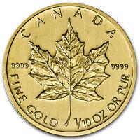 2013 1/10 oz Gold Canadian Maple Leaf Coin - Brilliant Uncirculated - SKU #71264