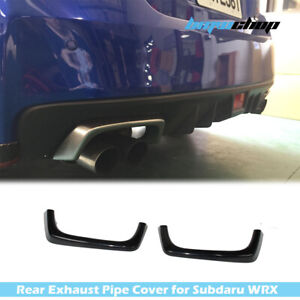 Painted Silver For SUBARU WRX STI 4DR Exterior Rear Exhaust Pipe Cover 17 18
