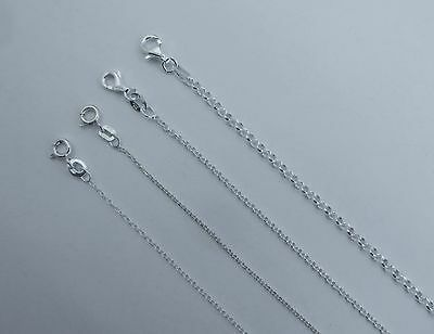 3ab0b6b59d1 Details about Rolo Chain Pure .925 Italian Sterling Silver Necklace. 1 to  2.5mm, 14 to 30 inch