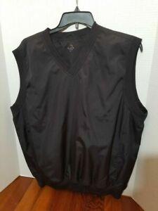 Aquity-Mens-XL-Sleeveless-Vest-V-Neck-Golf-Outdoor-Sports-Pockets-Fall-Spring