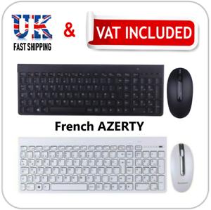 fa83710cb14 Lenovo IBM PC AZERTY Wireless Slim French Keyboard & Mouse Windows ...