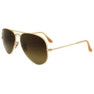 RayBan Sunglasses Aviator 3025 112 85 Matt Gold Brown Gradient   eBay 1eea4f8cfa