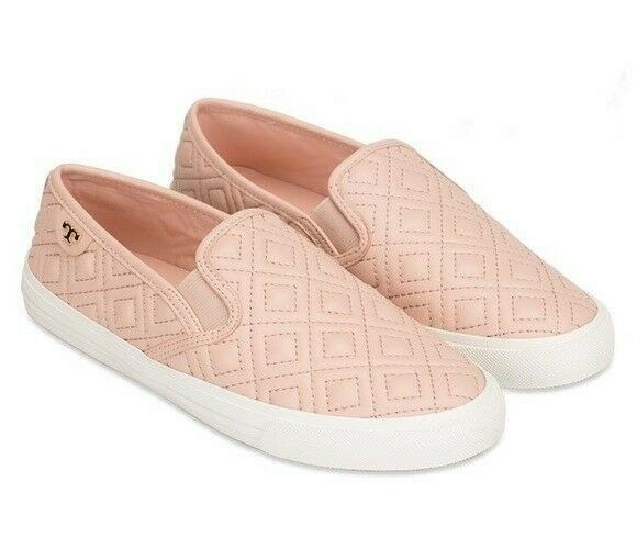 NIB  165Tory Burch Jesse Quilted Leather Leather Leather Slip On shoes Sachet Pink Size10.5 973f75