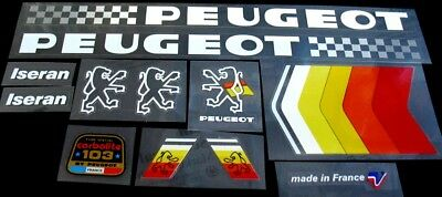 0643 Peugeot Bicycle Chain Stay Frame Sticker Transfer Decal