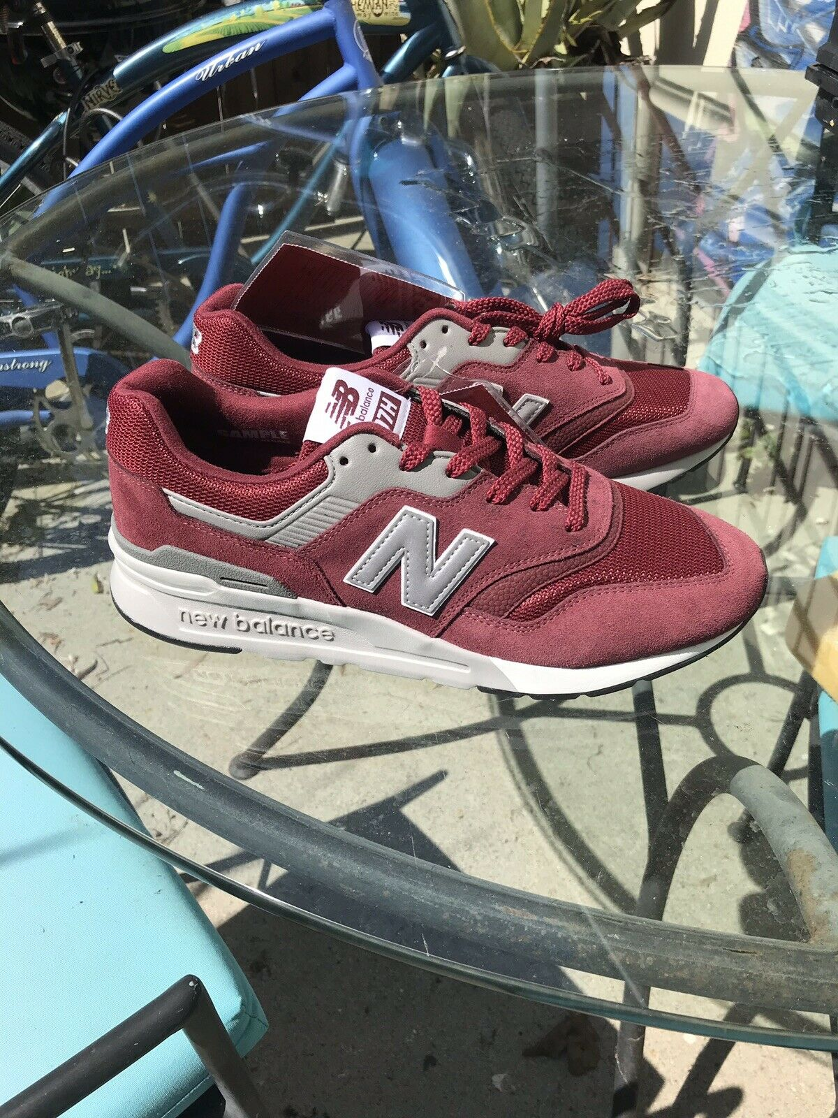 New balance Size 9.5 SAMPLE 997H Lifestyle Red   Grey, Suede Inner Authentic