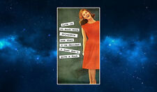 Life Is Much More Enjoyable.. Fridge Magnet. Funny Retro Women's Humour.