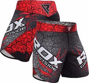 RDX-MMA-Pantaloncini-Boxe-Sport-Shorts-Combat-Palestra-Arti-Marziali-Pugilato-IT