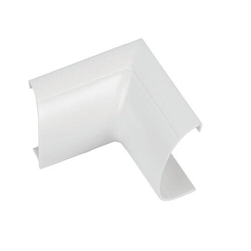 90 Degré conduit 20 mm x 10 mm Blanc Clip-Sur Intérieur Bend Trunking Adaptateur