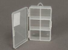 2PCs Large 6 Compartment Storage Box Jewelry Screws Tools Organizer Box