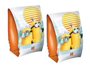 Despicable Me Minions Inflatable Kids Armbands Swim Ring Arm Bands Beach Pool
