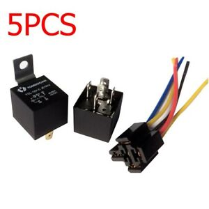 image is loading car-auto-relay-socket-12v-dc-40a-5pin-