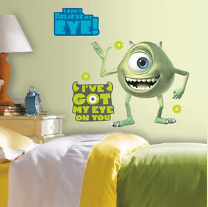 Monsters Inc Room Decor.Details About Monsters Inc Mike Wazowski Wall Stickers Mural 12 Decals Disney Room Decor 25x22