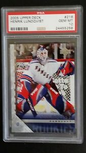 05 06 Ud Henrik Lundqvist Young Guns Rookie Rc 216 Psa 10 Gem Mint