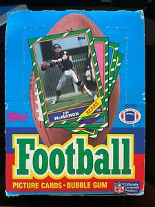 Topps Football Box 1986 Cards Wrapped 36 packs