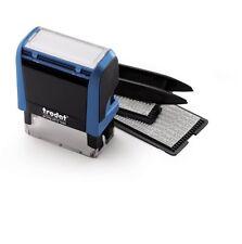 trodat printy 4912 typo selbst setzen 47mm x 18mm blau 4 Zeilen NEU