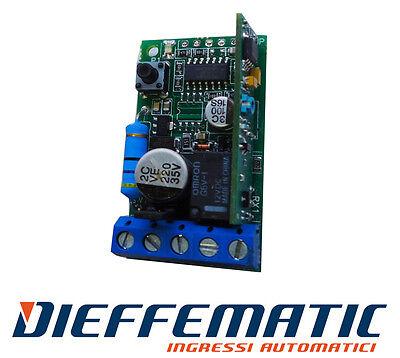 Ricevitore Universale Radio Telecomando 433mhz Automazione Cancello Df