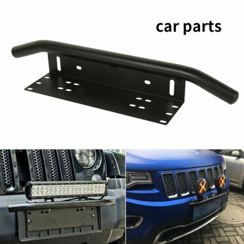 Voiture Plaque D/'immatriculation Support pare choc avant plaque d/'immatriculation Cadre Support Light Bar Mount