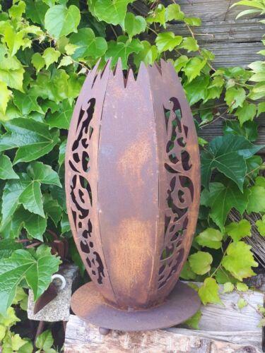 Edelrost Mosaik Leuchte K Dekoration Garten Terrasse Beet Säule Metall Skulptur