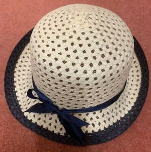 Ladies-woven-Summer-Hat-Cream-and-Blue-56cm