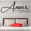 miniature 3 - Adesivo Amore è  stickers murale stanza da letto famiglia decalcomania camera