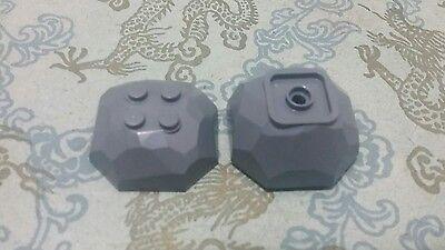 Lego 1x Rock Boulder Top Bottom 30293 30294c01 Dark Gray Trans Neon Orange