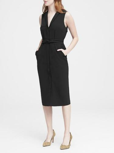 see description for detail info NWD Banana Republic Black Trench Dress Sz 4