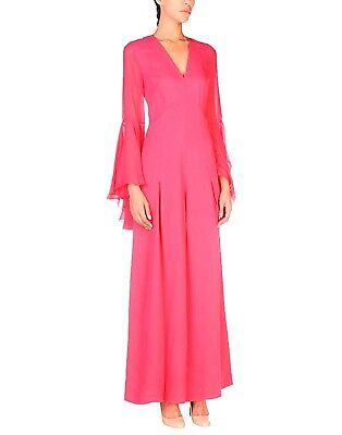 Salopette Lunga Tuta Donna Abito Vestito Pinko Made In Italy I491 Fucsia Tg 44