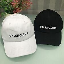 NEW 19 BALENCIAGA² Embroidery strapback adjustable hat Baseball Cap Black