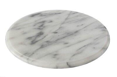 Piatto Vassoio Girevole Marmo Bianco Italiano Italian Marble Rotating Tray D25cm Prezzo Basso