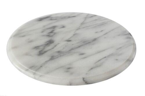 Piatto Vassoio Girevole Marmo Bianco Italiano Italian Marble Rotating Tray D25cm