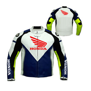 Men Honda motorcycle leather racing jacket LD-06-2021 ( US 38-48 )